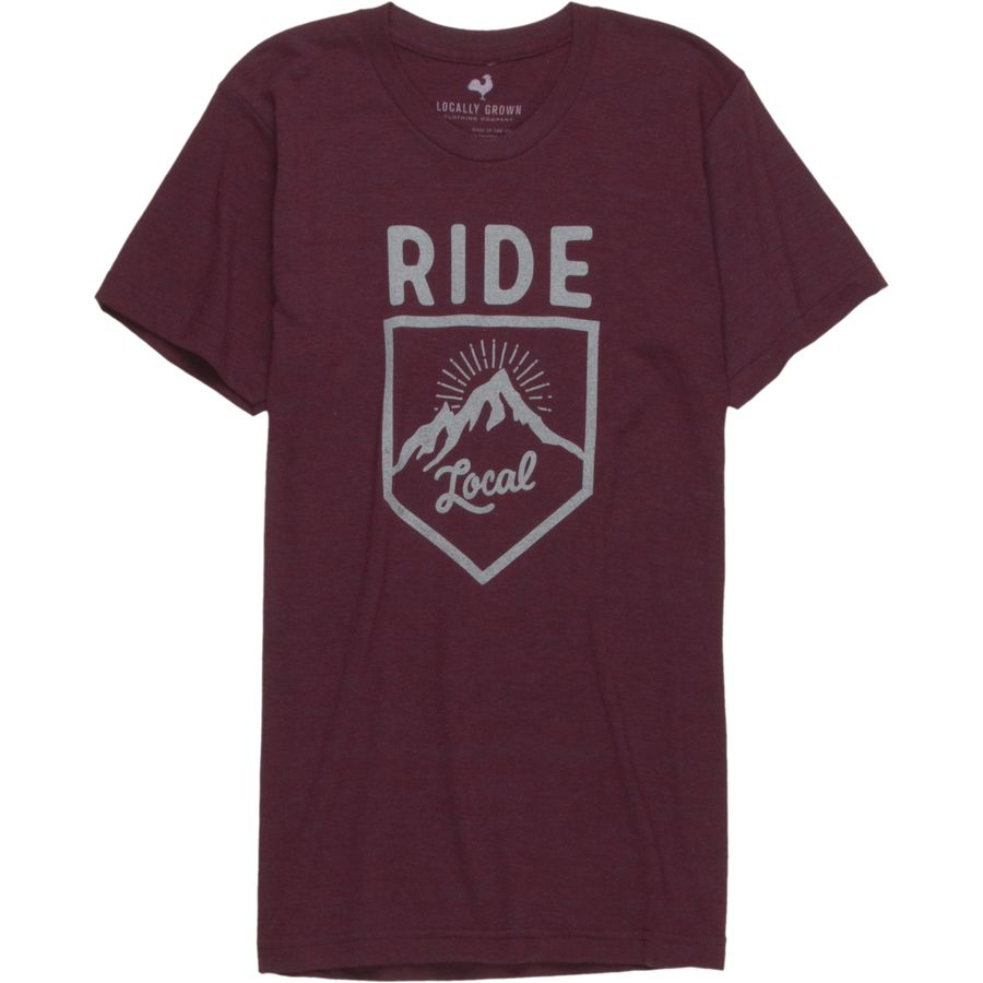 Locally Grown Ride Badge Tri-Blend T-Shirt - Short-Sleeve - Mens