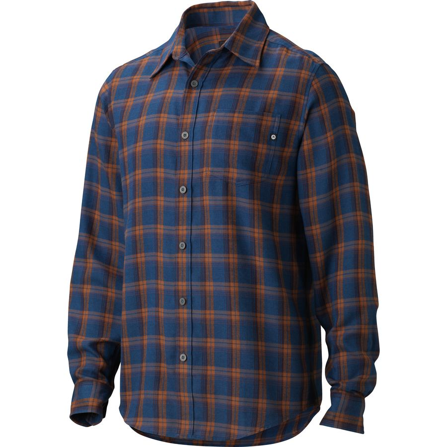 Marmot fairfax flannel shirt long sleeve men 39 s for Cotton polyester flannel shirts