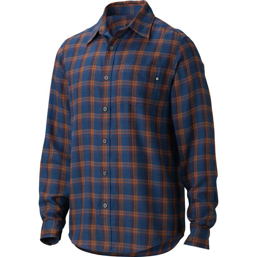 Marmot fairfax flannel shirt long sleeve men 39 s for 9 oz flannel shirt