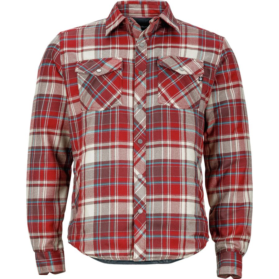 Marmot arches insulated flannel men 39 s for Mens insulated flannel shirts