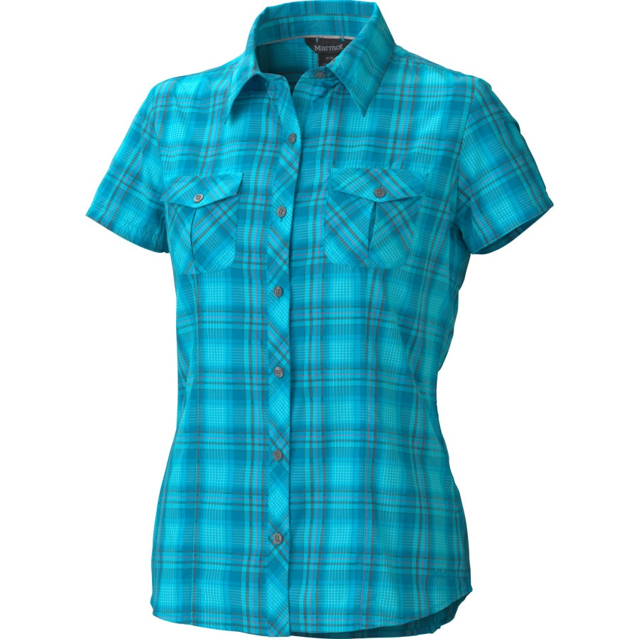 Marmot audrey plaid shirt short sleeve women 39 s Short sleeve plaid shirts