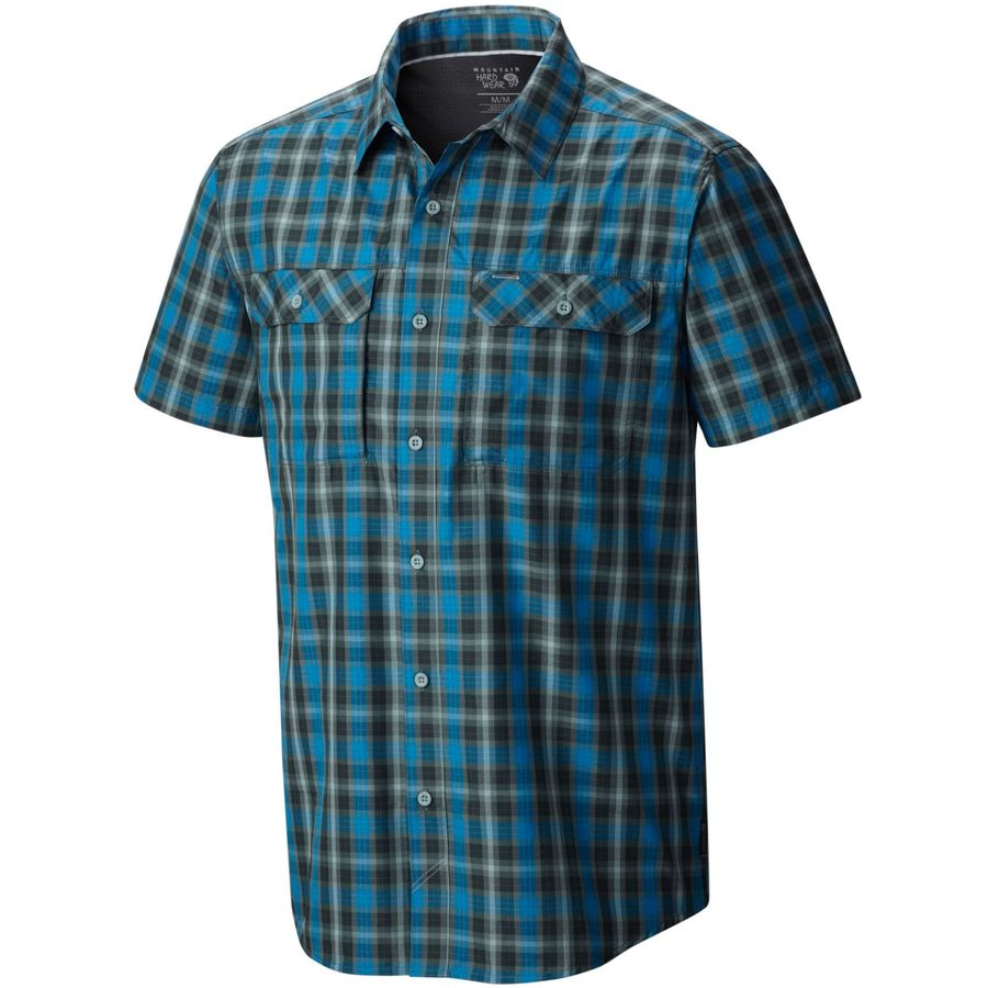 Mountain hardwear canyon plaid shirt short sleeve men Short sleeve plaid shirts