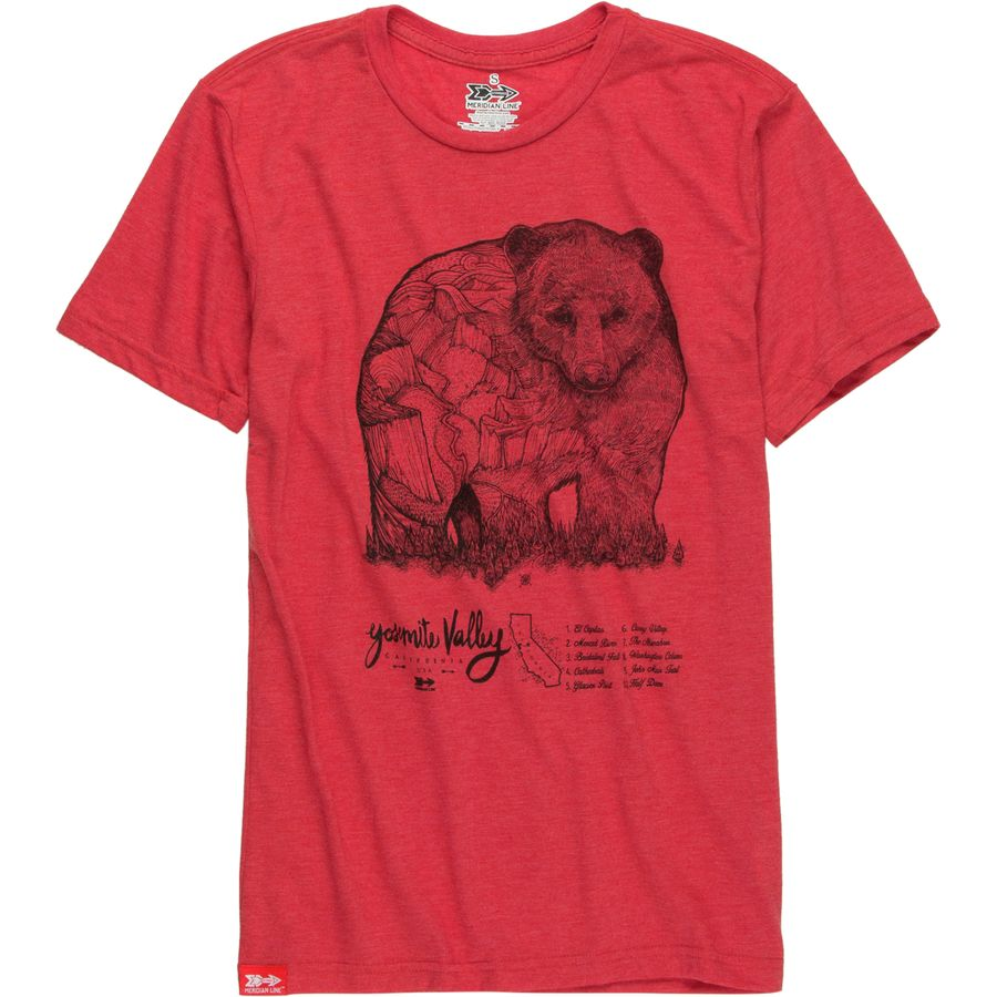 Meridian Line Yosemite Bear T-Shirt - Short-Sleeve - Mens