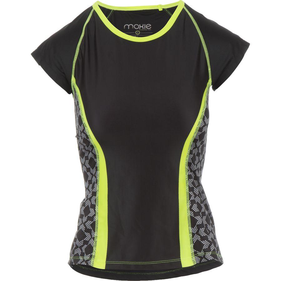 Moxie Cycling Lumenex Colorblock Tee Jersey - Short-Sleeve - Womens