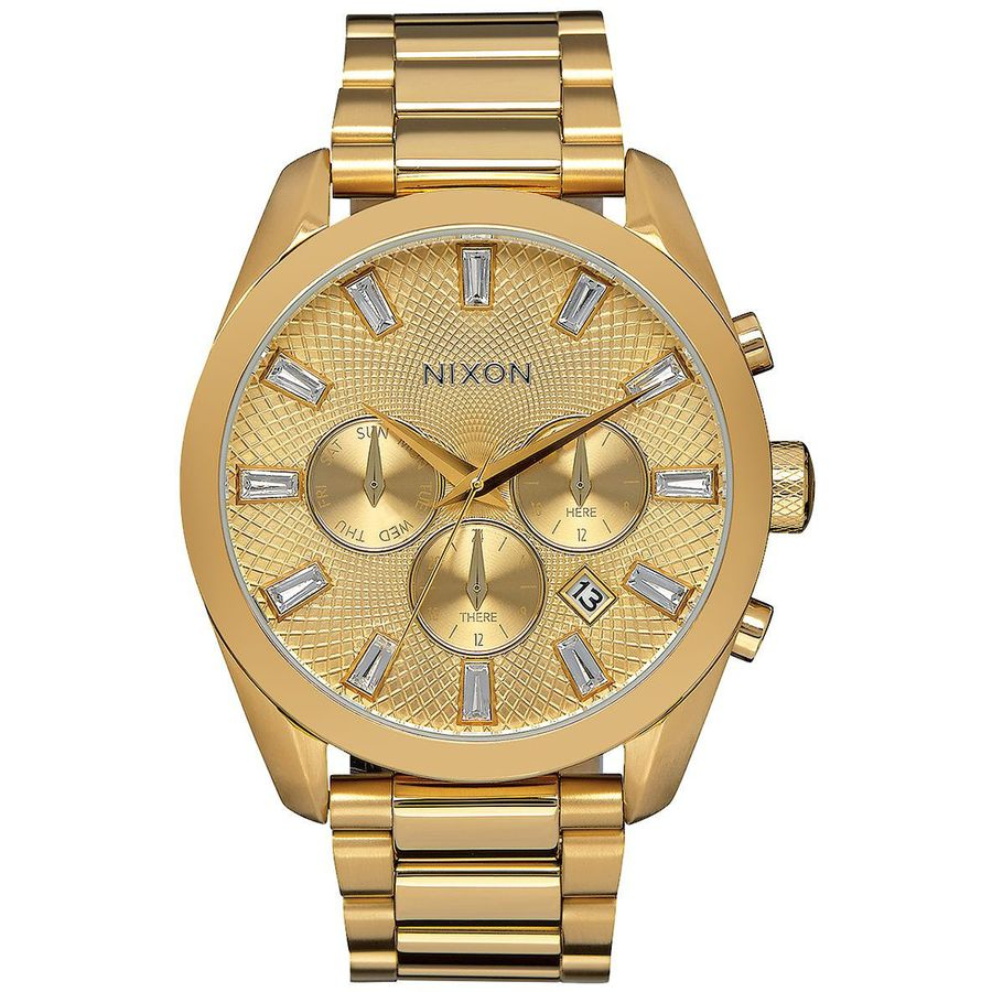 Nixon bullet chrono crystal watch women 39 s for Crystal watches