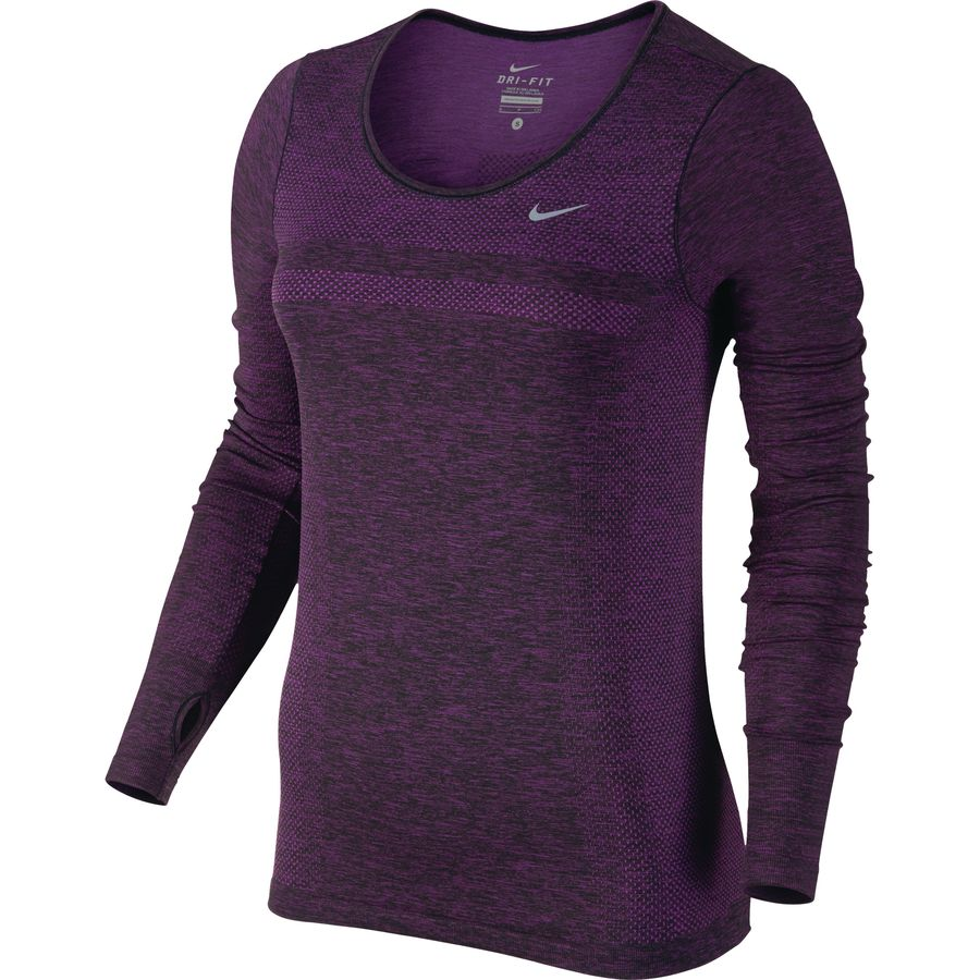 Nike dri fit knit shirt long sleeve women 39 s for Buy dri fit shirts