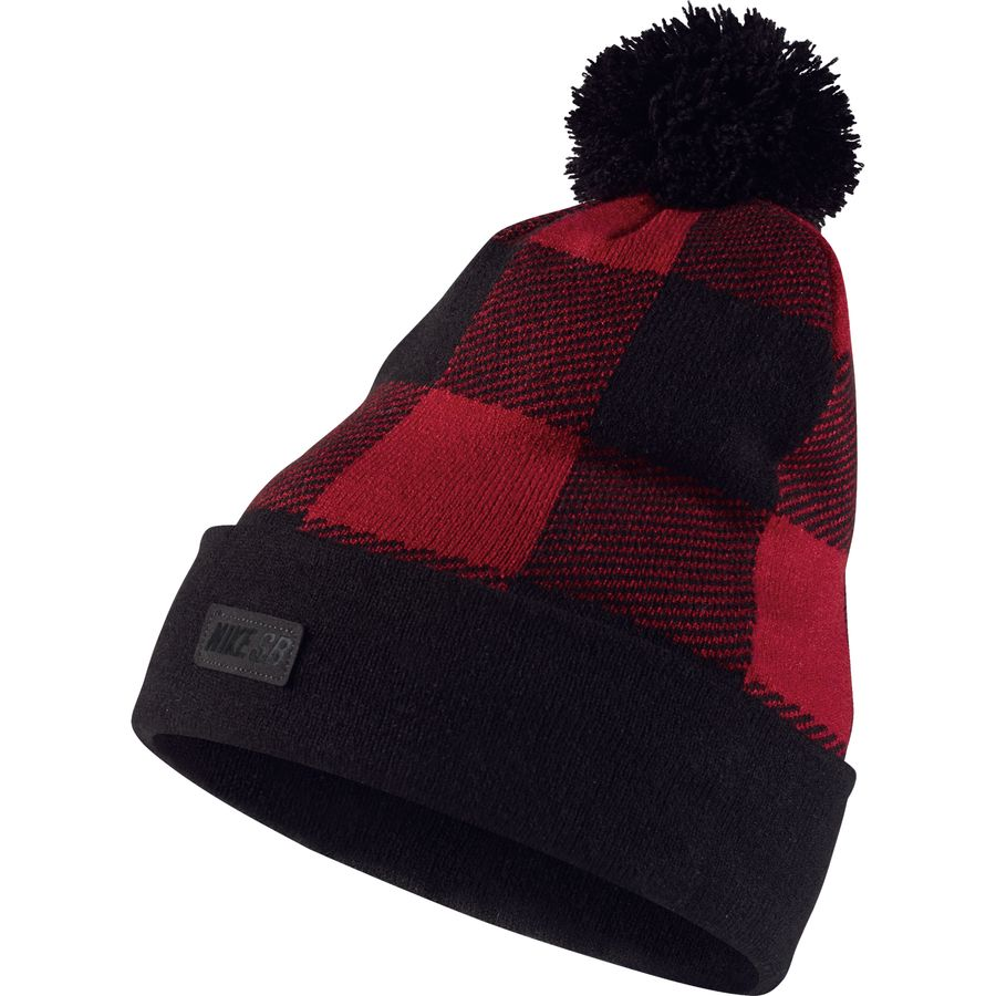 nike buffalo plaid pom beanie. Black Bedroom Furniture Sets. Home Design Ideas