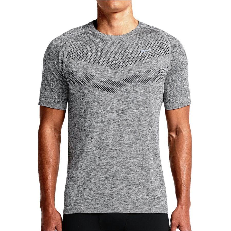 Nike dri fit knit t shirt short sleeve men 39 s for Dri fit t shirts manufacturer