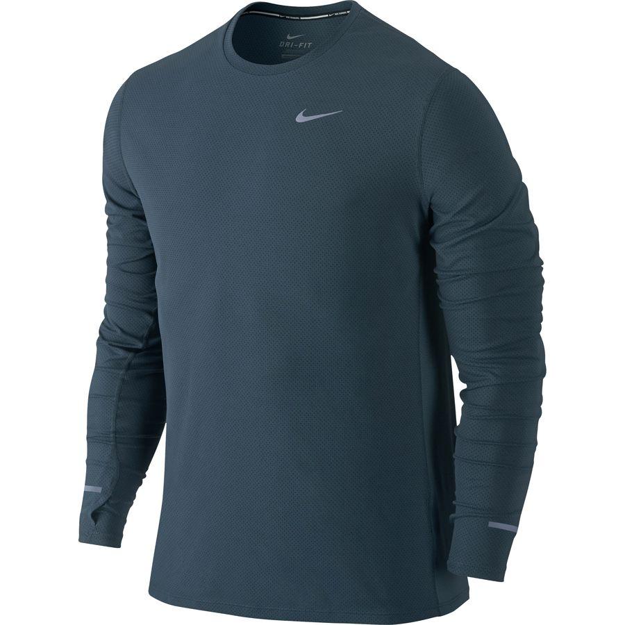 Nike dri fit contour shirt long sleeve men 39 s for Dri fit t shirts manufacturer