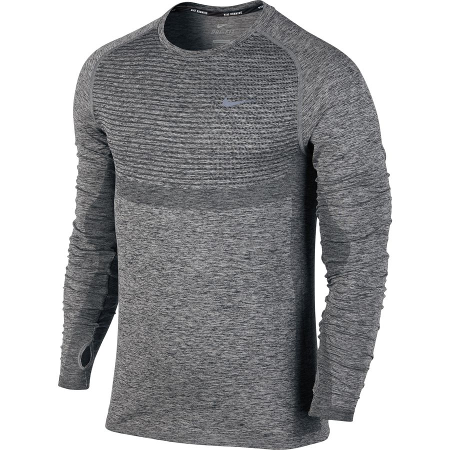 Nike Dri-FIT Knit Running Shirt - Long-Sleeve - Mens