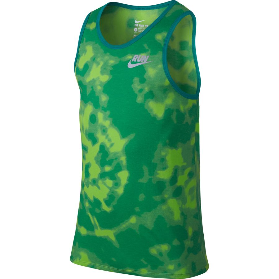 Nike run printed tie dye tank top men 39 s for Nike tie dye shirt and shorts