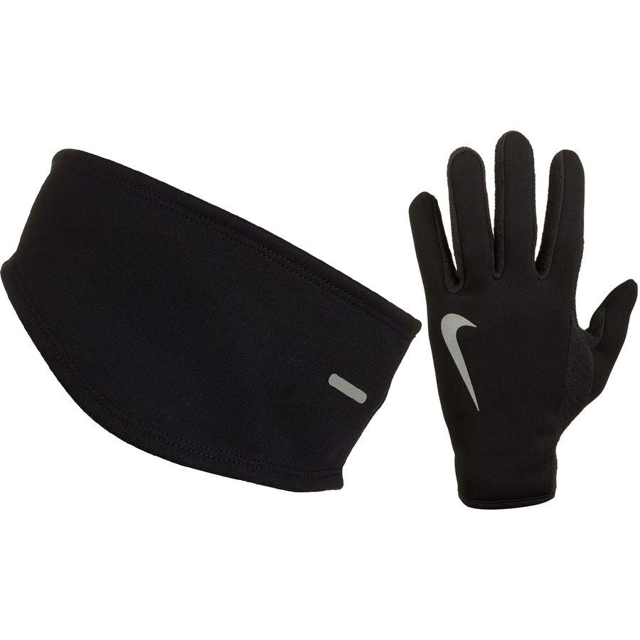Nike Thermal Gloves: Nike Thermal Running Headband/Glove Set