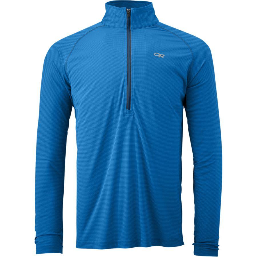 Outdoor Research Echo Zip-Neck Shirt - Long-Sleeve - Mens