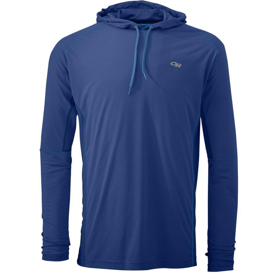 Outdoor research echo hooded long sleeve shirt men 39 s for Mens outdoor long sleeve shirts