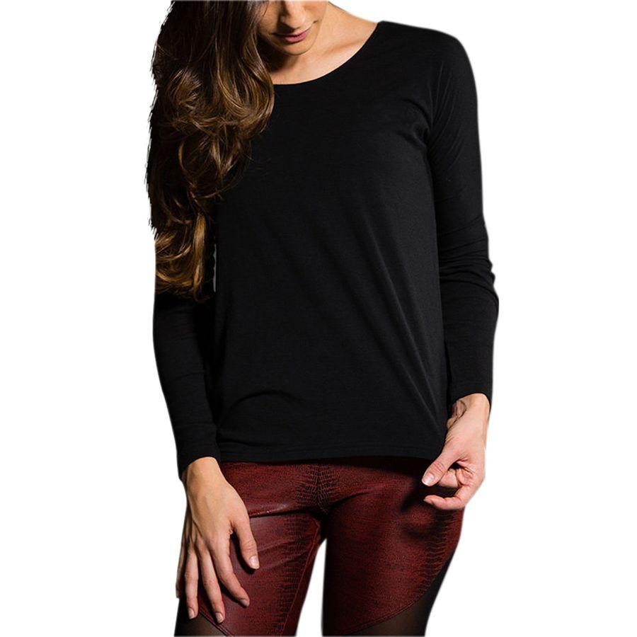 Onzie Drapey V-Back Shirt - Long-Sleeve - Womens