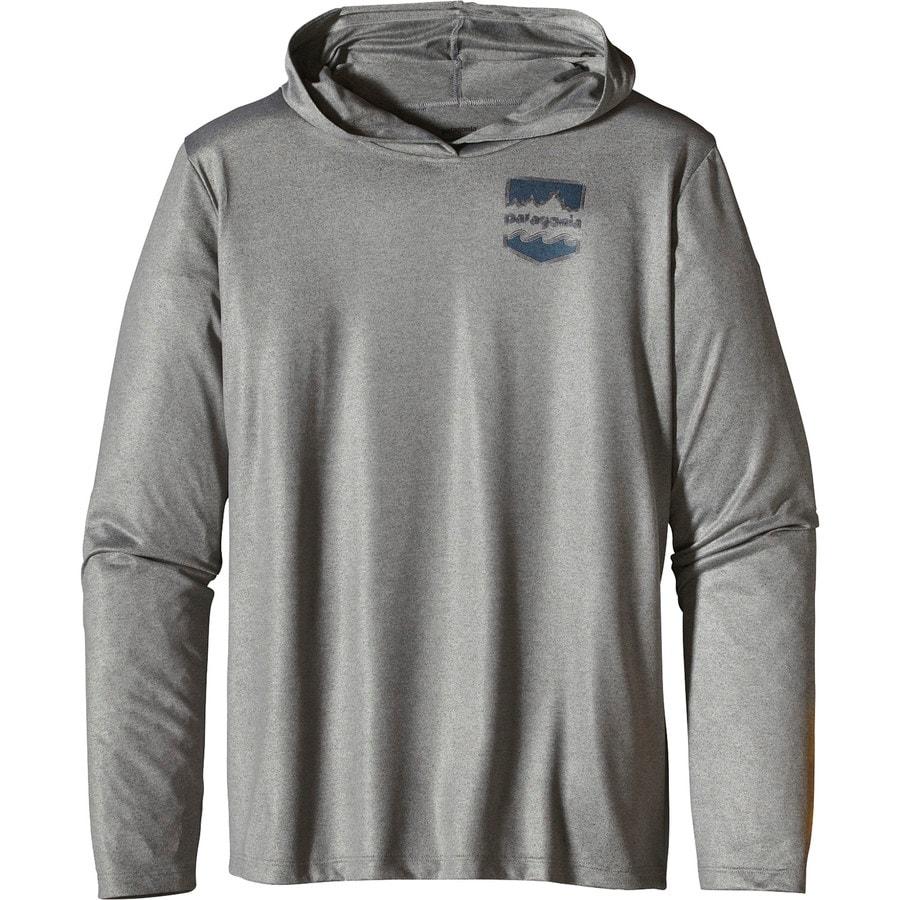Patagonia polarized hooded shirt long sleeve men 39 s for Patagonia fishing shirt