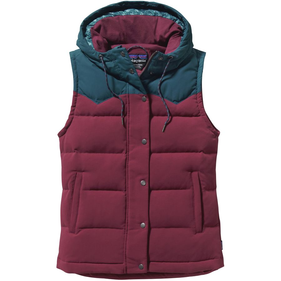 Patagonia bivy hooded down vest women 39 s for Women s fishing vest