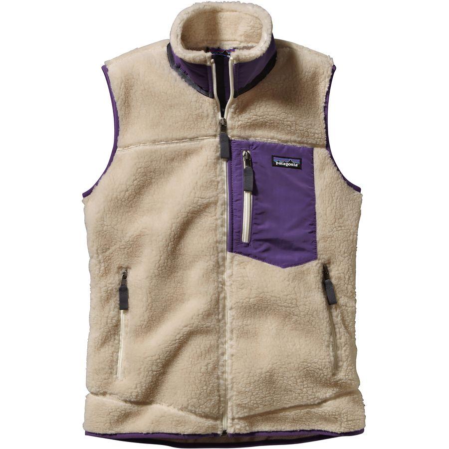 Patagonia classic retro x fleece vest women 39 s for Women s fishing vest