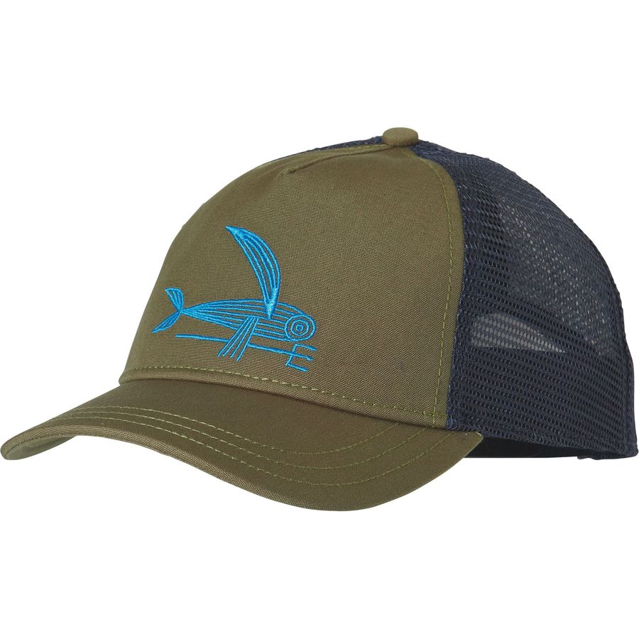Patagonia deconstructed flying fish layback trucker hat for Fishing trucker hats