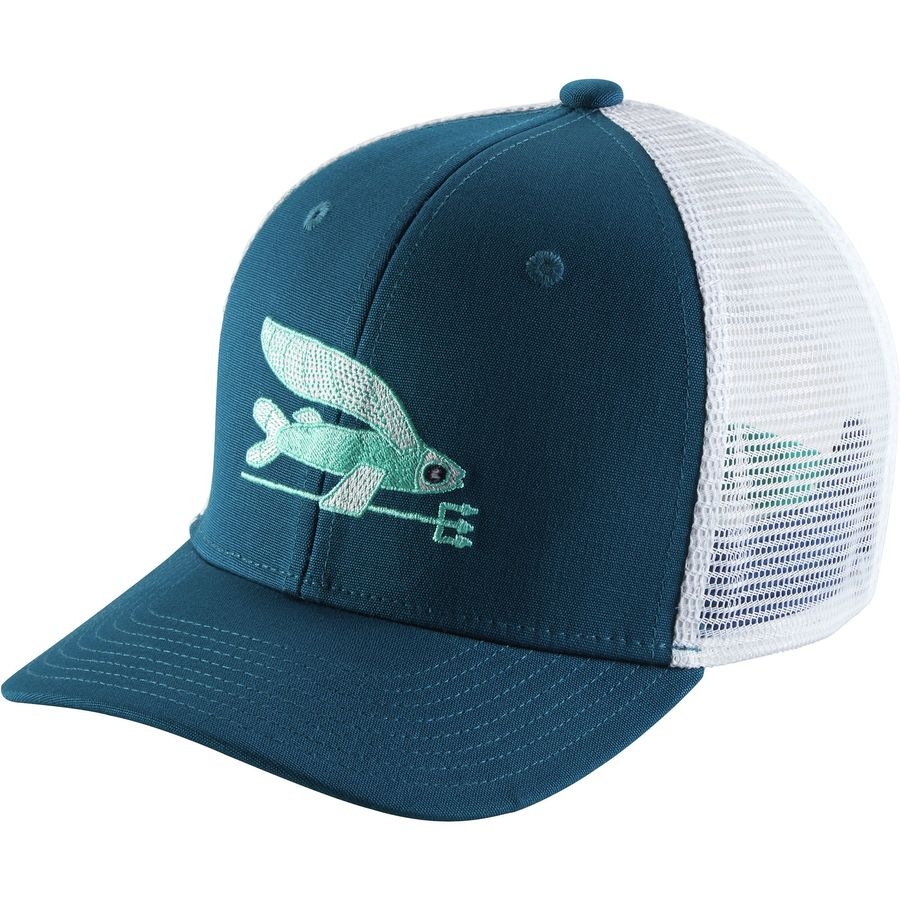 Patagonia trucker hat girls 39 for Patagonia fish hat