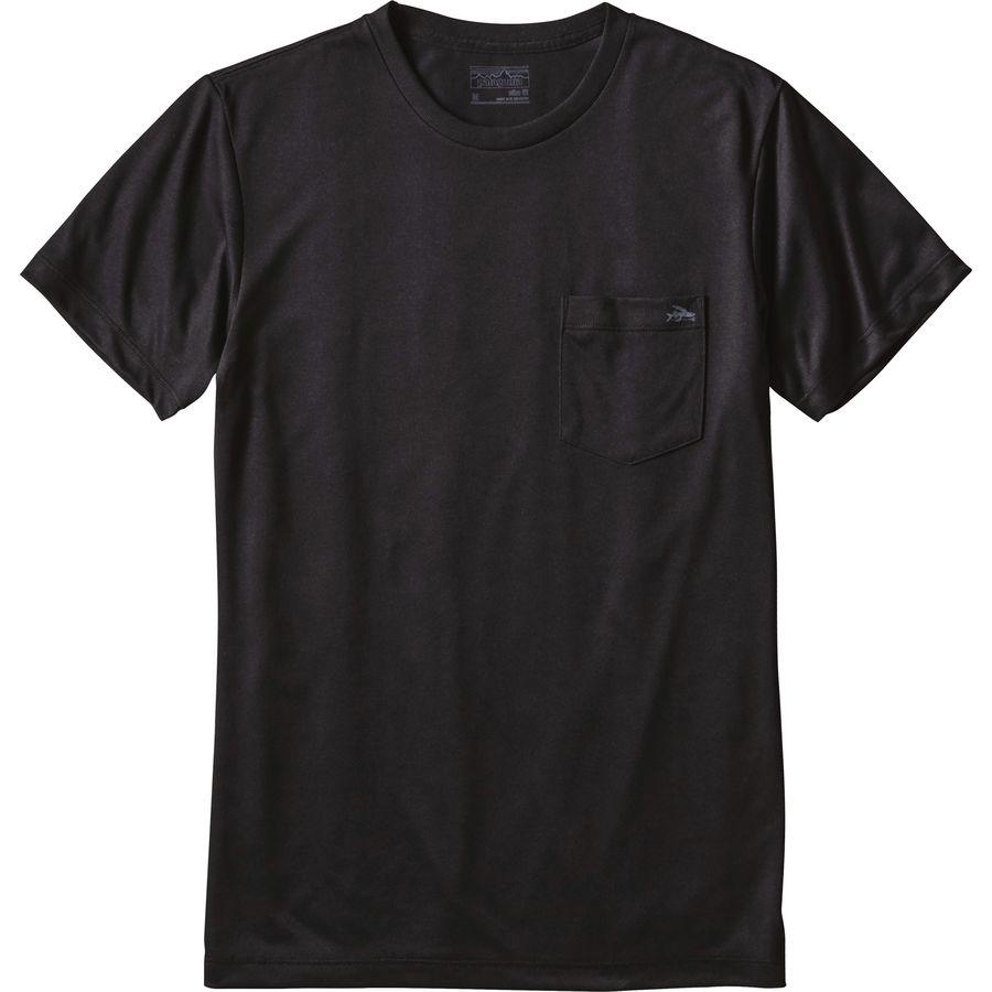 Patagonia flying fish recycled pocket responsibili t shirt for Patagonia fishing shirt