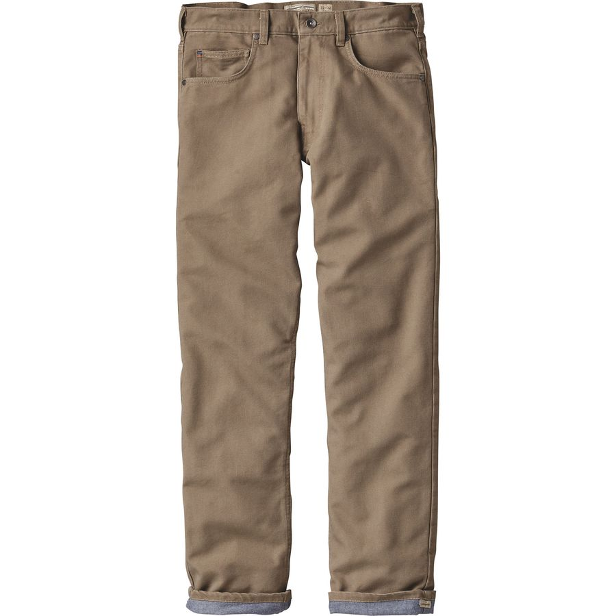Patagonia Flannel Lined Straight Fit Denim Pant - Mens