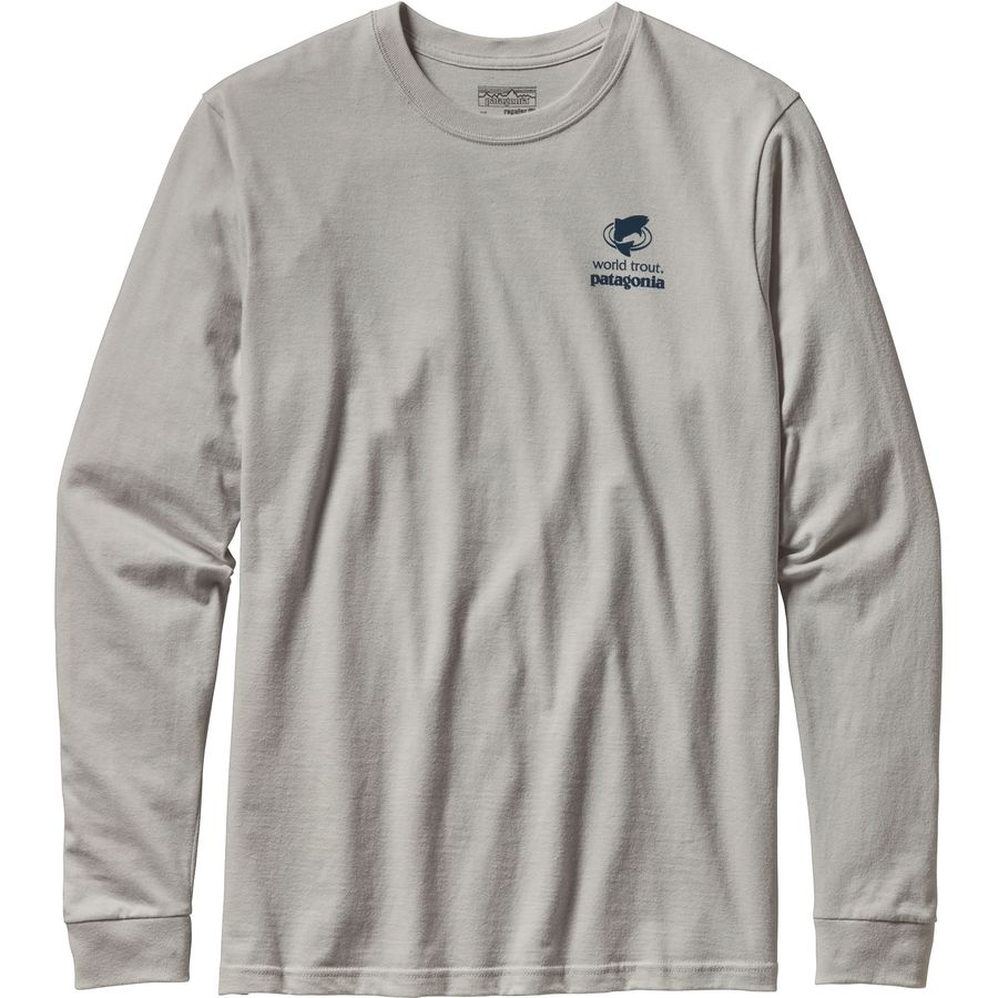 Patagonia World Trout Slurped Cotton Long Sleeve T-Shirt  - Mens