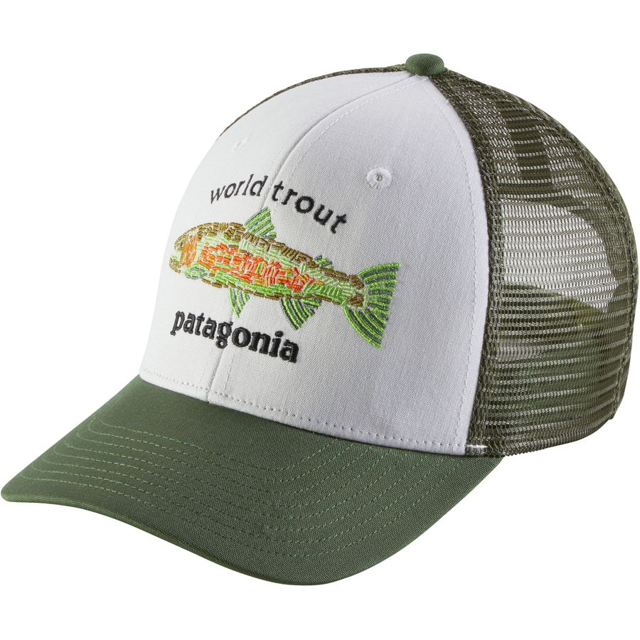 Patagonia world trout fishstitch trucker hat men 39 s for Trout fishing hats
