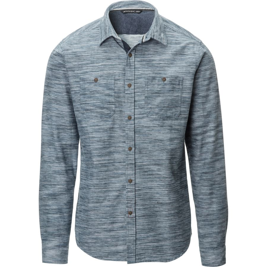 Siphon sunlight space dye flannel shirt men 39 s for Space flannel