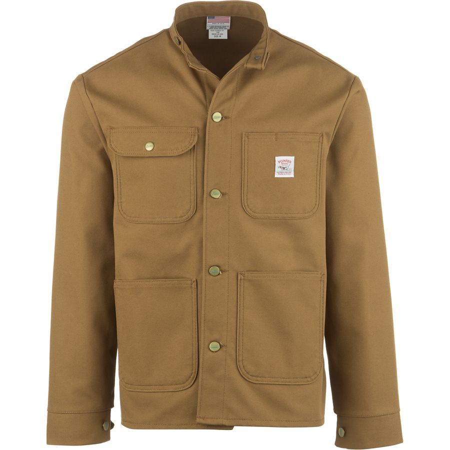 Pointer Brand Brown Duck Banded Collar Chore Coat - Mens