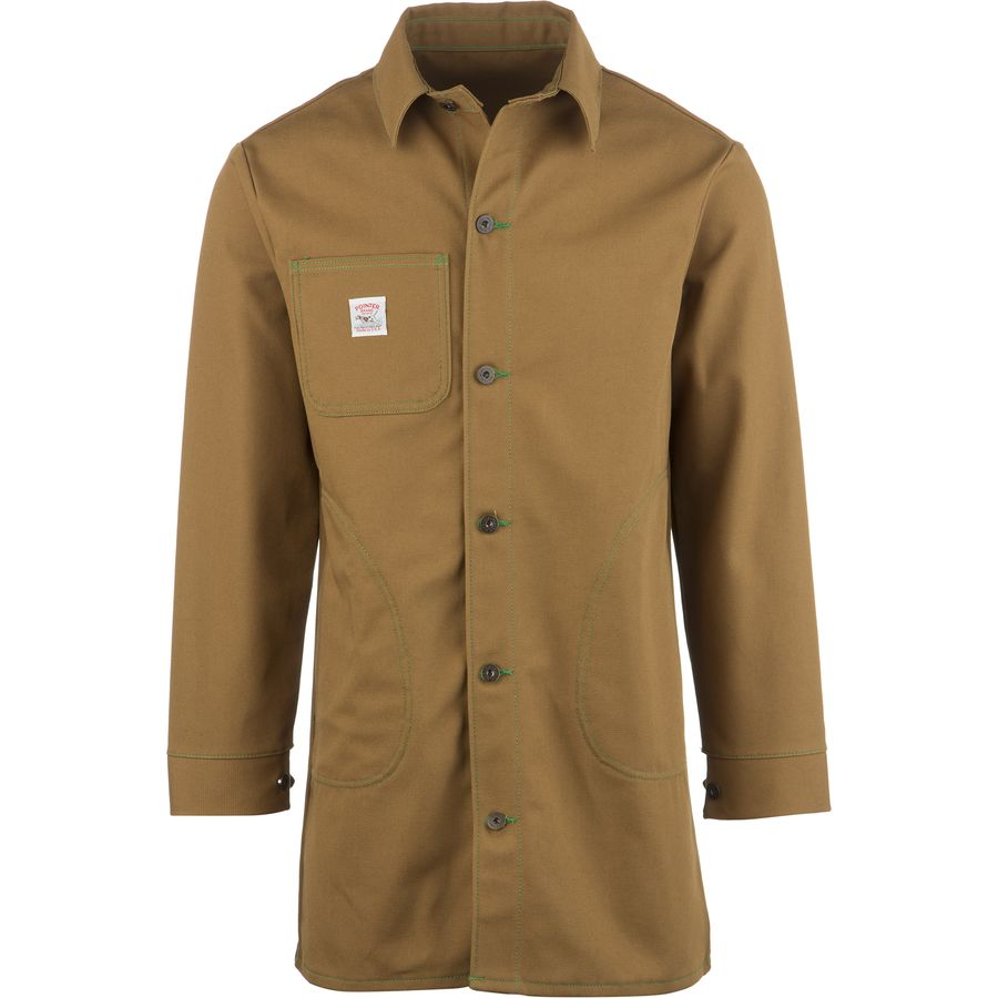 Pointer Brand Brown Duck Circle Pocket Long Jacket - Mens