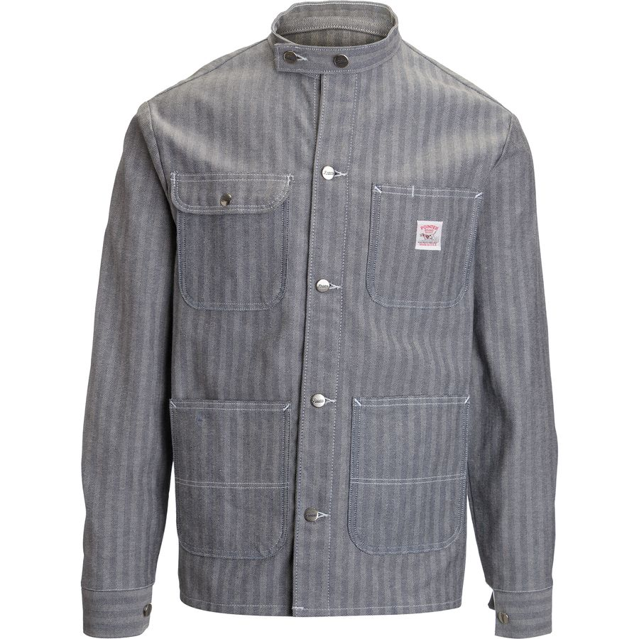 Pointer Brand Fisher Stripe Banded Collar Jacket - Mens