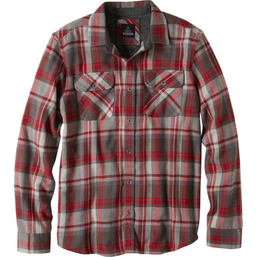 prana lybeck flannel shirt long sleeve men 39 s