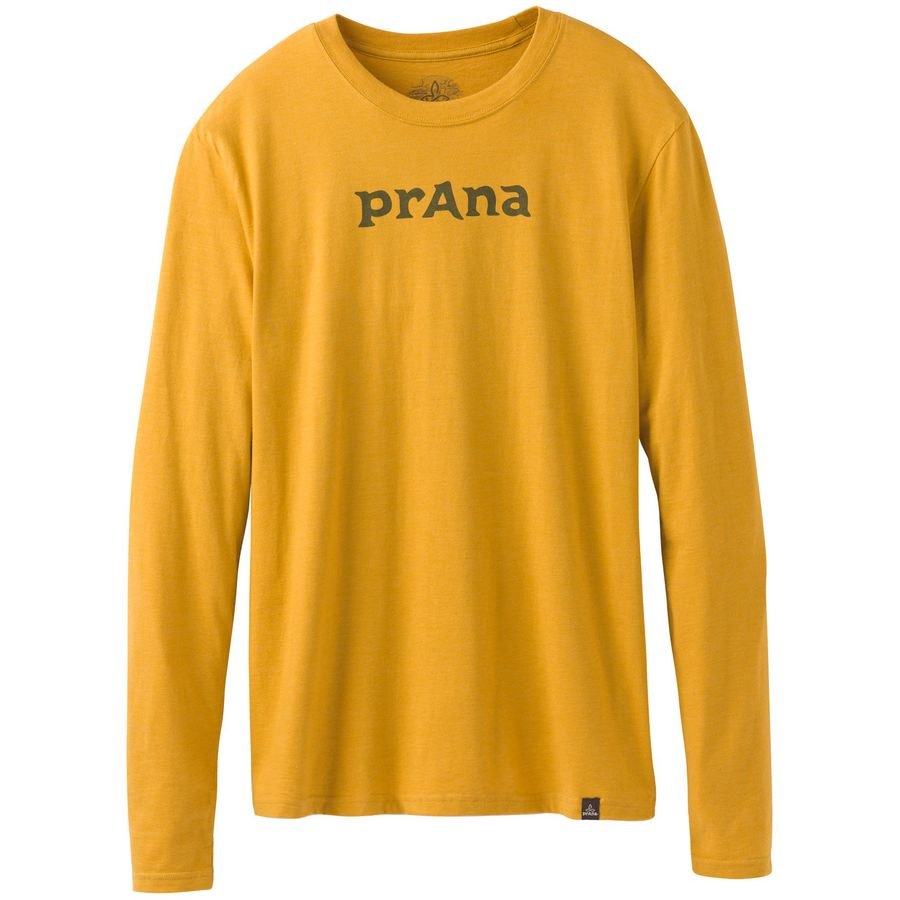 Prana Logo Long-Sleeve T-Shirt - Mens