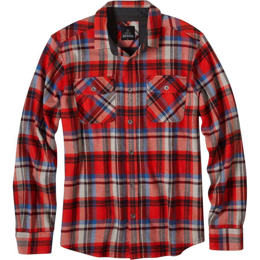 Prana Lybek Flannel Shirt - Long-Sleeve - Mens