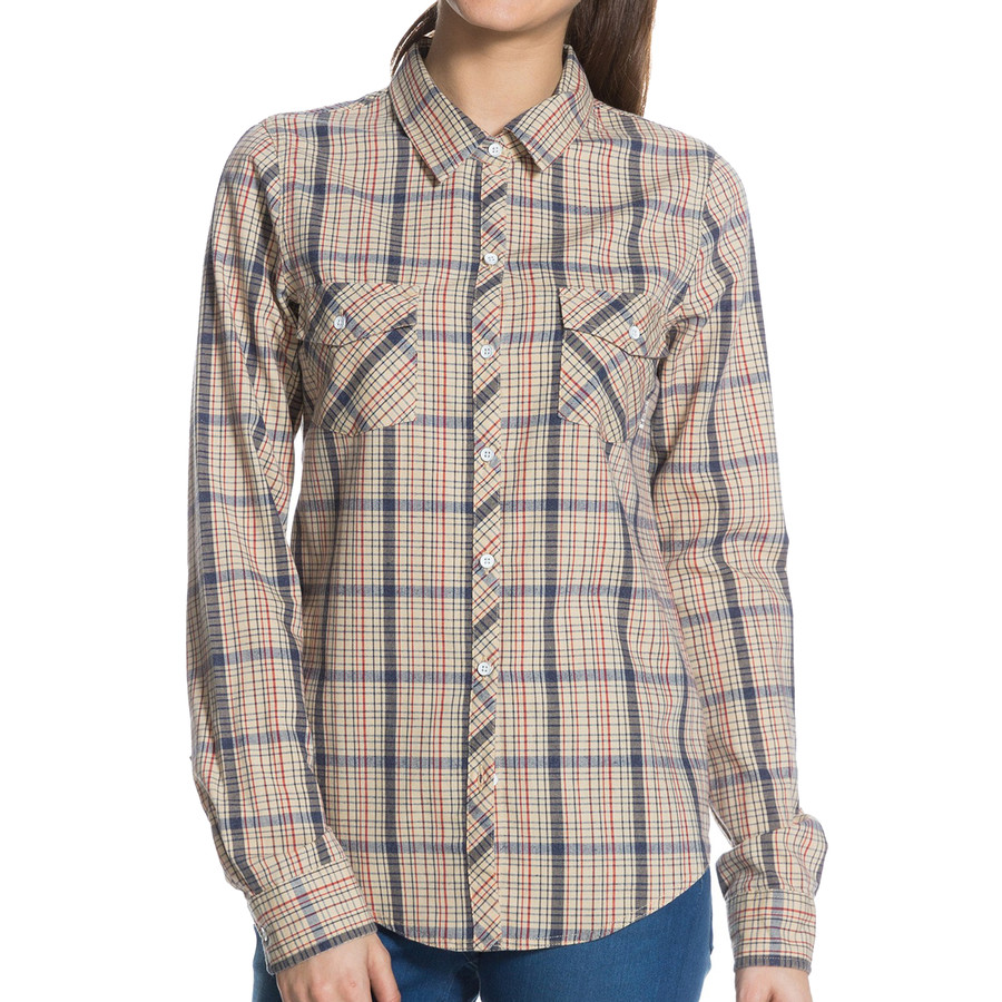 Roxy camp site shirt long sleeve women 39 s for Women s long sleeve camp shirts