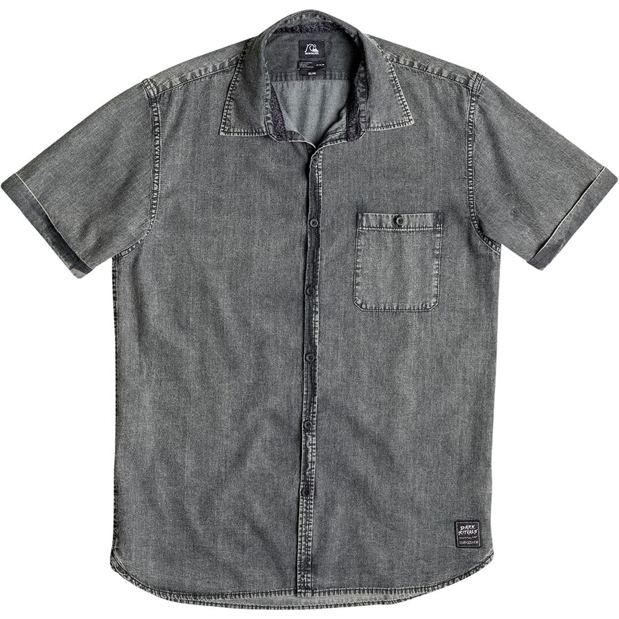 Quiksilver Rockvoks Chambray Shirt Short Sleeve Men 39 S