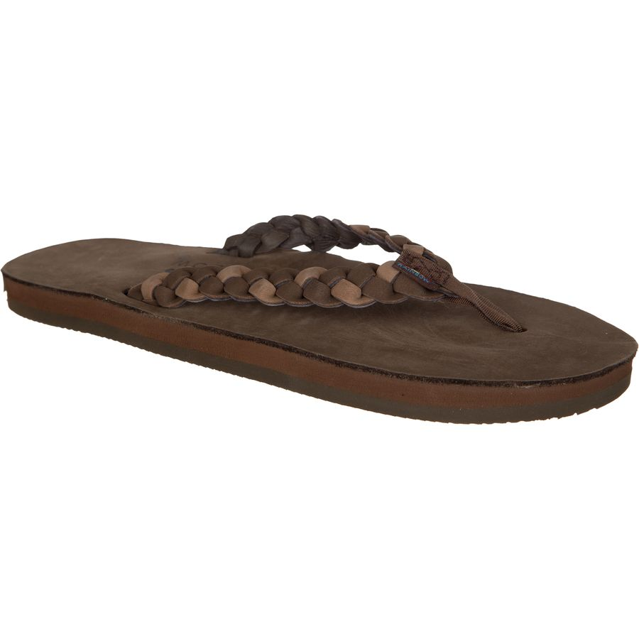 Rainbow Twisted Sister Premier Leather Flip Flop - Womens