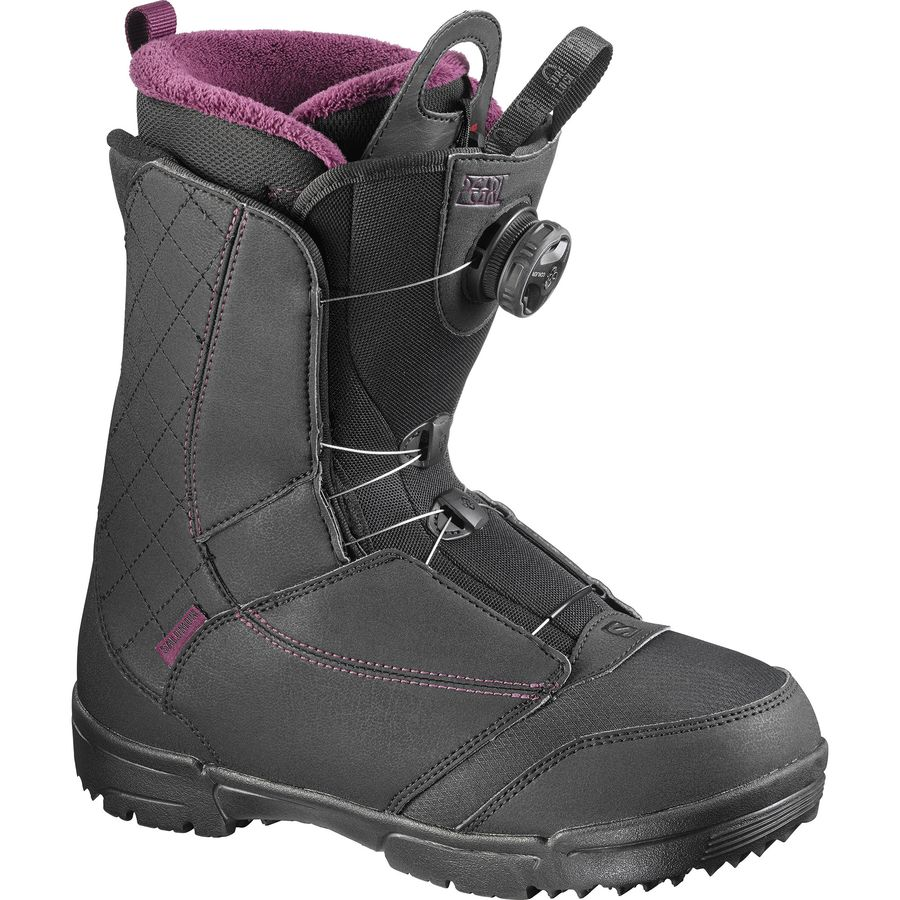 salomon snowboards pearl boa snowboard boot women 39 s. Black Bedroom Furniture Sets. Home Design Ideas