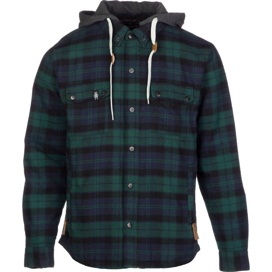 Saga Insulated Hooded Flannel Shirt - Long-Sleeve - Men's