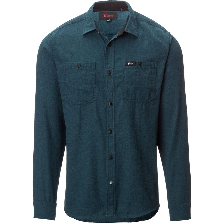 stoic beaver solid flannel shirt men 39 s