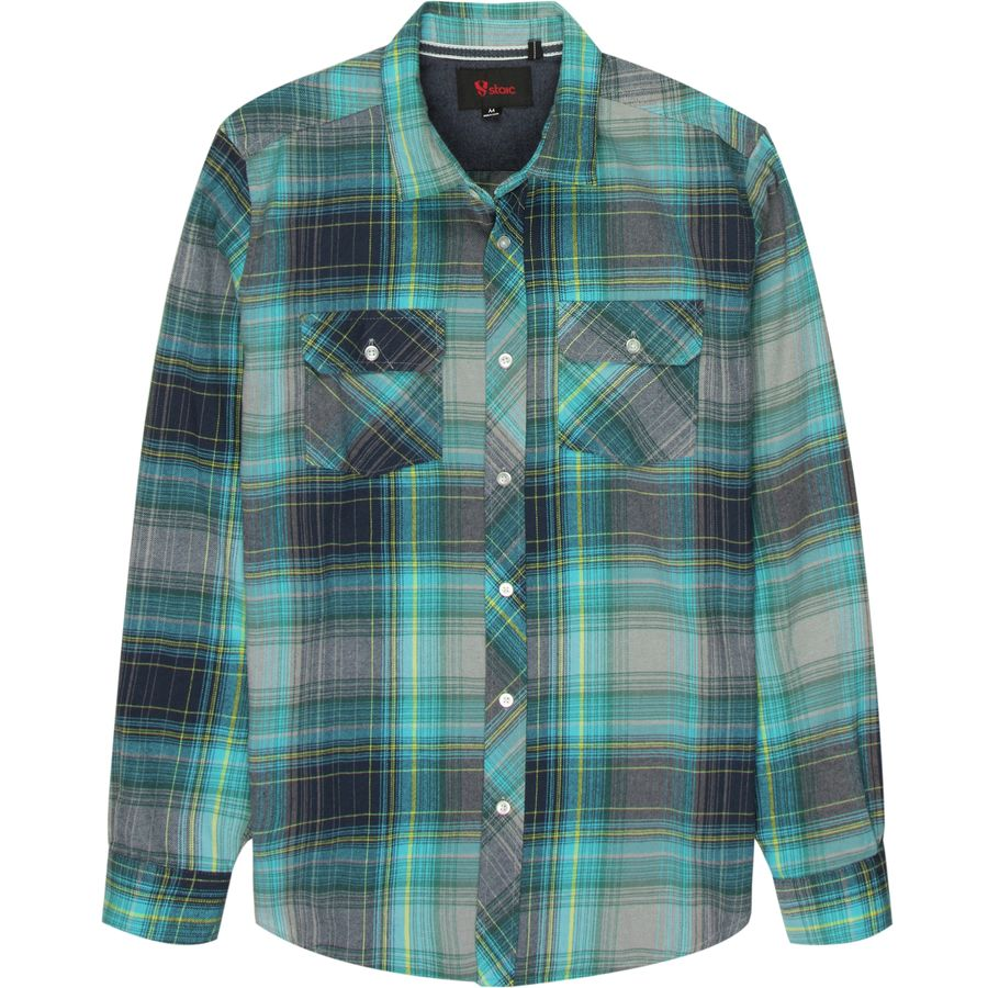 stoic blue ridge flannel shirt mens backcountrycom