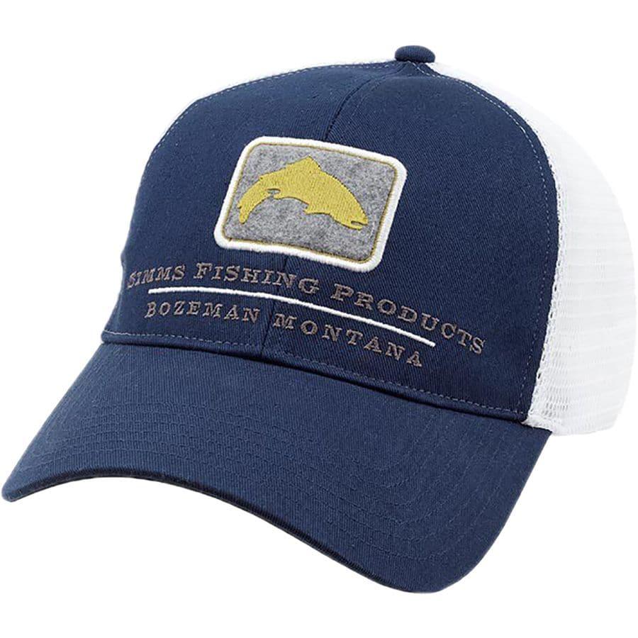 Simms trout trucker hat for Fly fishing trucker hat