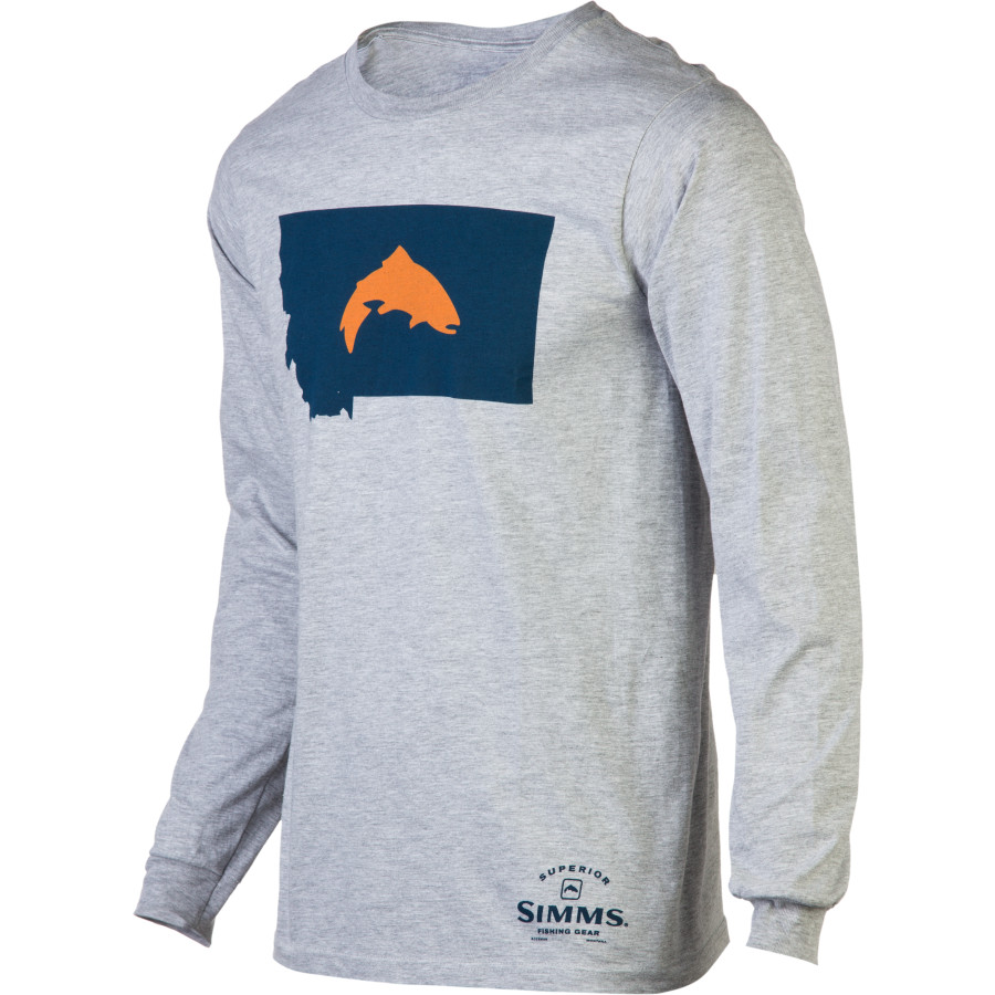 Simms fish montana t shirt long sleeve men 39 s for Simms fishing shirts