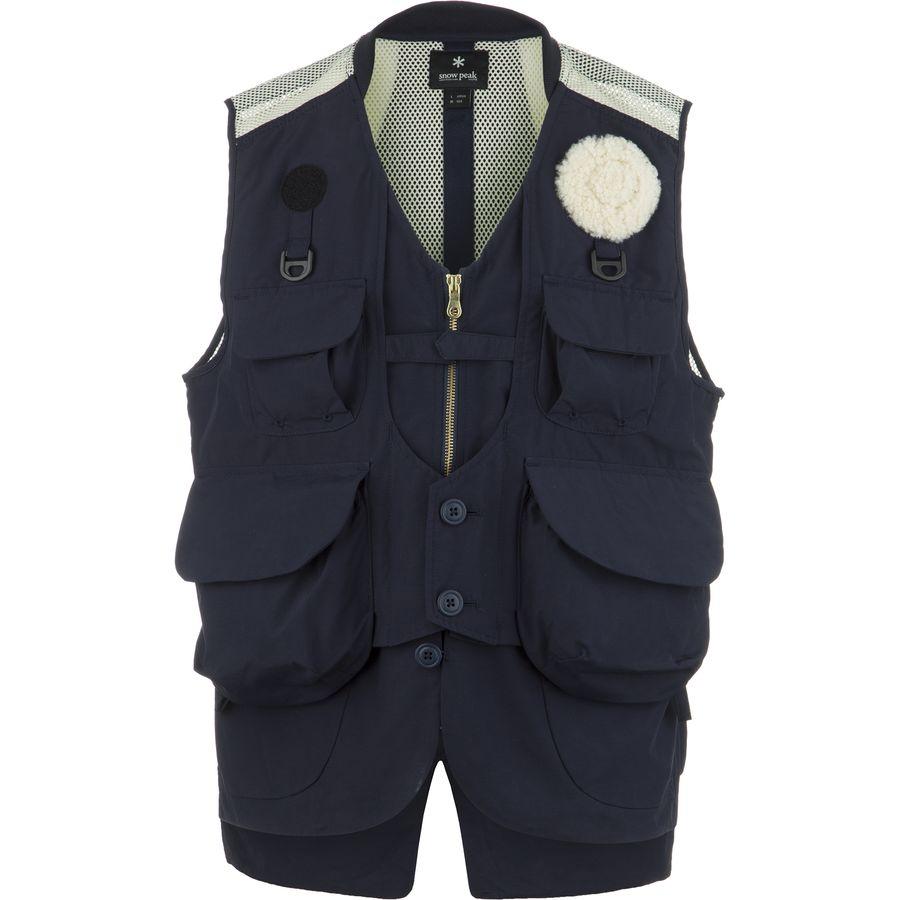 Snow peak utility fishing vest men 39 s for Toddler fishing vest