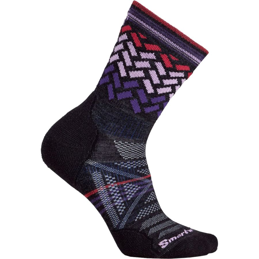 SmartWool PhD Outdoor Light Pattern Mid Crew Socks - Womens