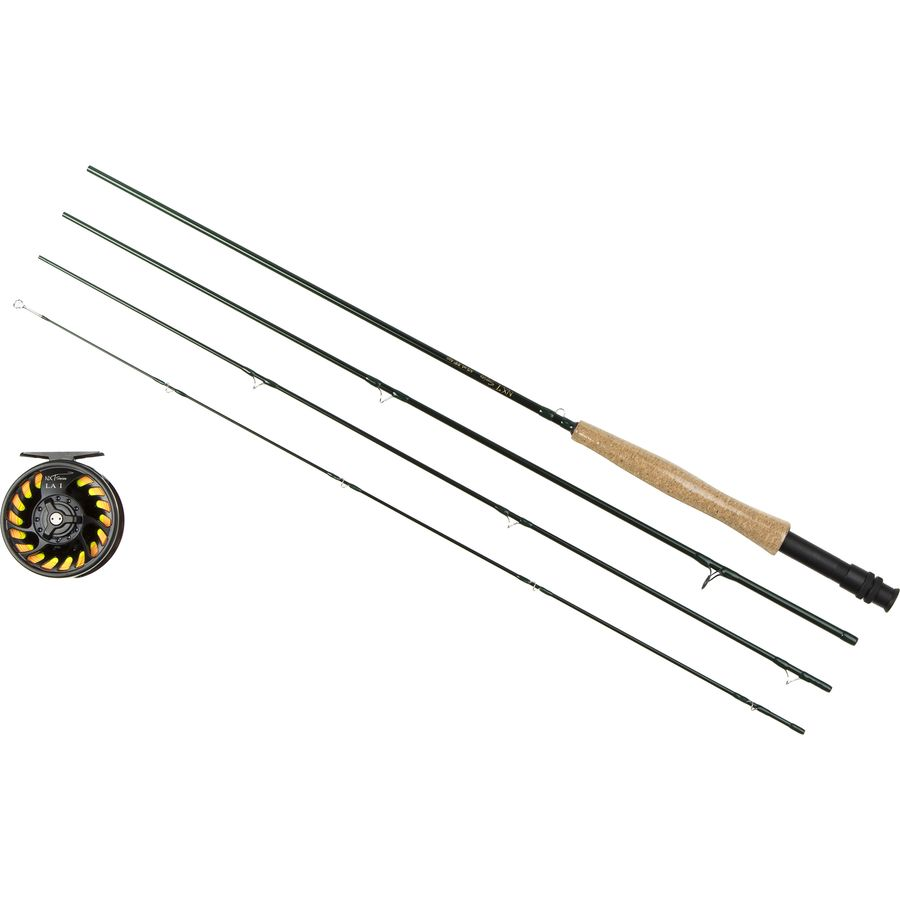 Tfo nxt fly rod and reel package 4 piece for Trout fishing rod and reel