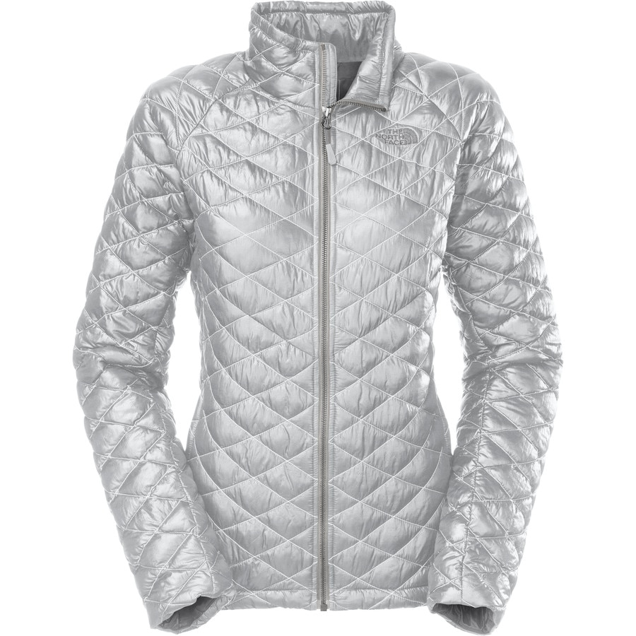 Silver North Face Womens Jacket