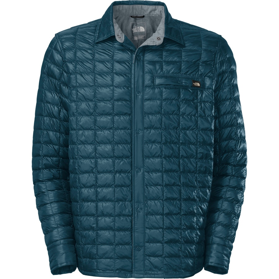 the north face reyes thermoball shirt jacket long sleeve