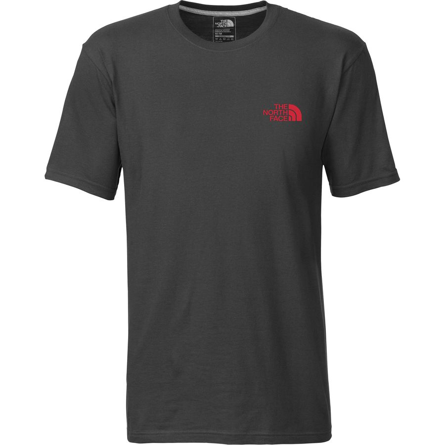 The north face red box t shirt short sleeve men 39 s for The north face short sleeve shirt
